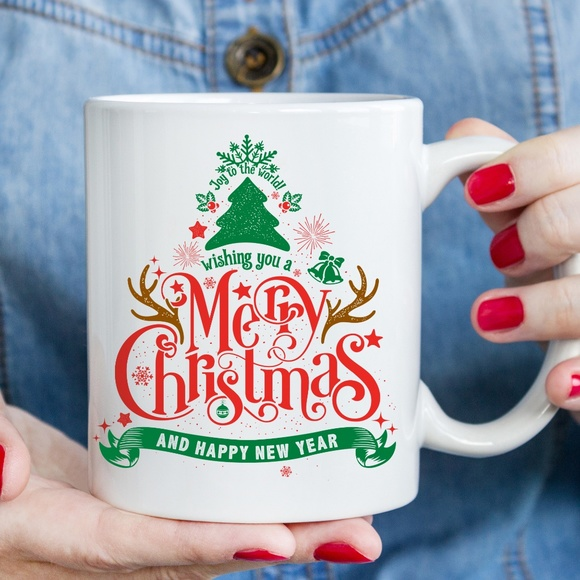 Xiomaradesignideas Com Dining Merry Christmas Coffee Mug Personalized Gift Poshmark